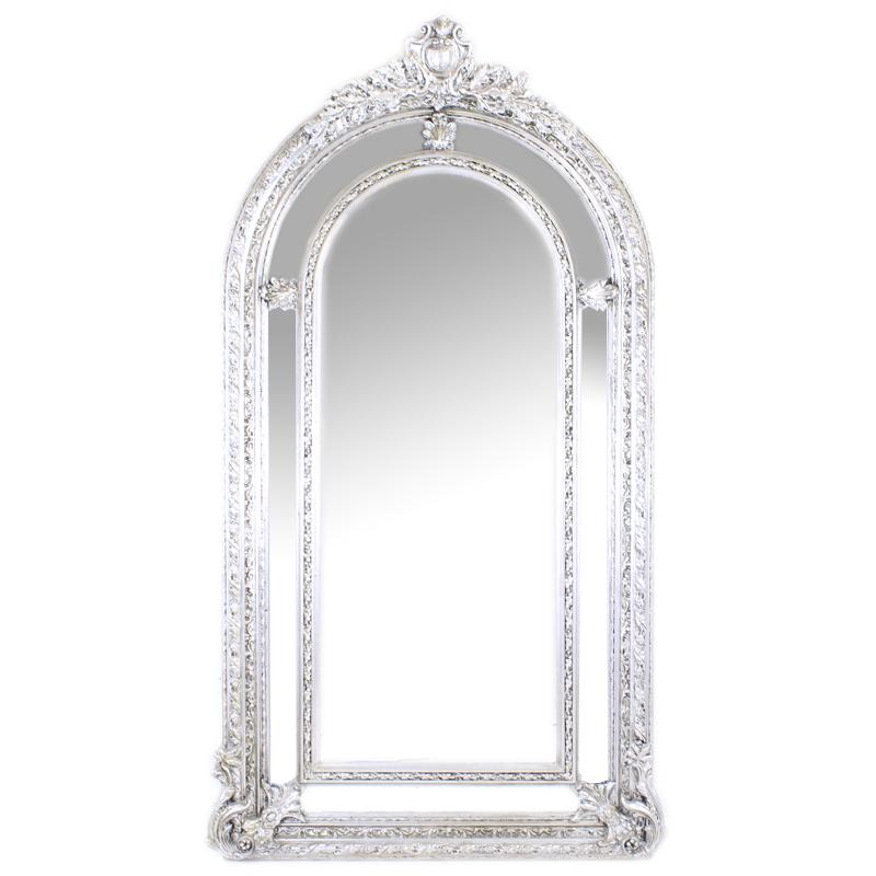 vintage spejl Gulv spejl i Rokoko stil Sølv vintage   LaChicq vintage spejl